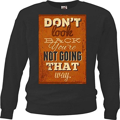 Sweatshirt Do Not Look Back No Vas Lifestyle Streetwear Hiphop Legendary in zwart