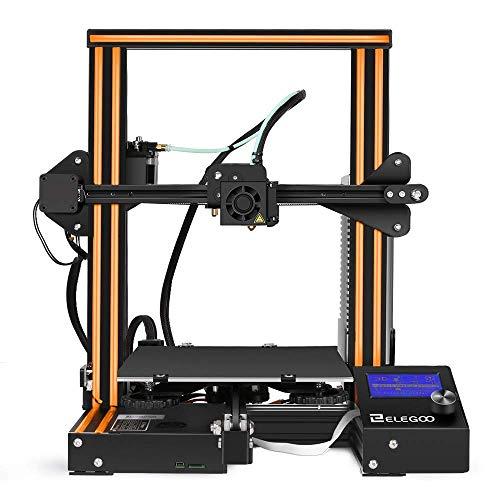ELEGOO Stampante 3D FDM Con Cornice Stampante Prusa I3 in Alluminio Con Scanalatura a V, Filamento 1,75 mm [PLA, TPU, ABS]
