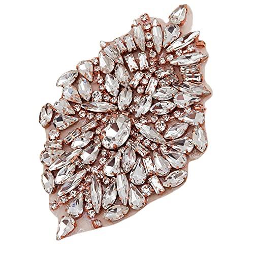 ZSDFW Apliques de diamantes de imitación para novia, accesorios para decoración de...