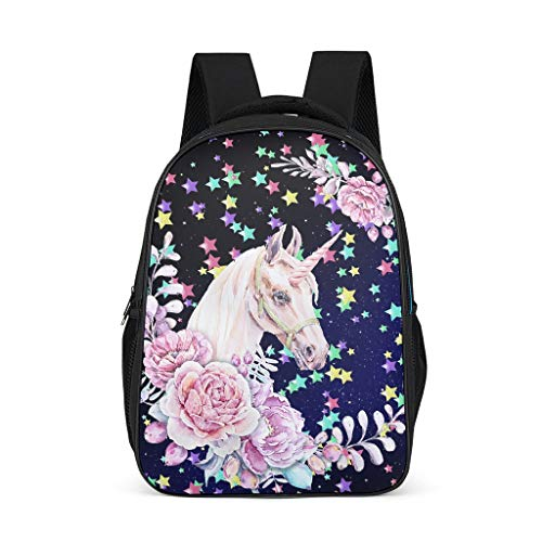 O2ECH-8 Rucksack Jungs Einhorn Rucksack Pink Unicorns Kawaii Rucksack Laptop - Cartoon Wander Rucksäcke Kinder Grey OneSize