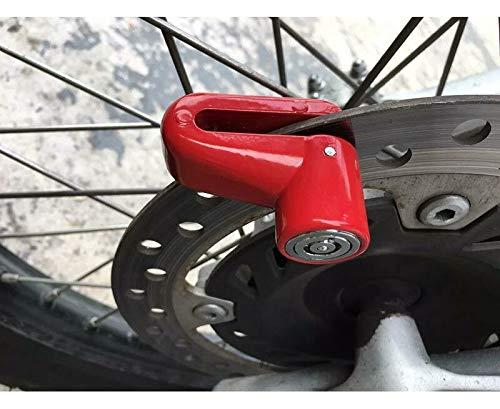Bloccadisco Lucchetto Antifurto Moto, Bloccadisco Moto Bici Portatile Blocco Antifurto per Motocicli Scooter Monopattino Biciclette