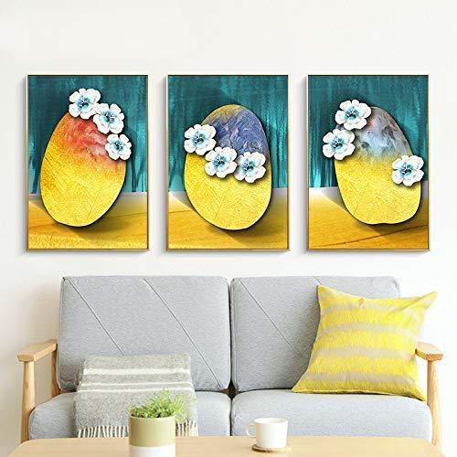 SLQUIET Gelb blau stein abstrakte malerei leinwanddruck für wohnzimmer schlafzimmer korridor dekoration hause wandkunst malerei ohne rahmen 40x60 cm