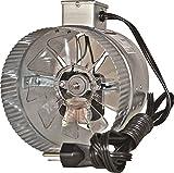 suncourt duct fan - Suncourt Inductor Inline Duct Fan, 6 Inch Diameter