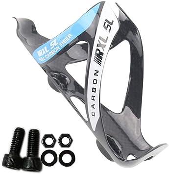 RXL SL Bicicleta Carbono Botella Cage Ligero 18g Negro Mate MTB Road Botella Titulares de Agua Blanca