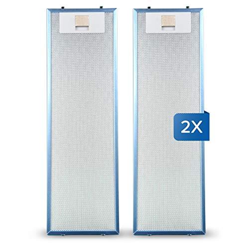 Lot de 2 filtres à graisse en métal pour hotte aspirante AEG 405534414/9 4055344149 Filtre métallique 512 x 160 mm