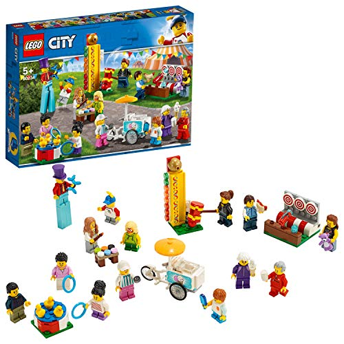 LEGO CityTown PeoplePack-LunaPark, Set da Costruzione con 14 Minifigure, Giocattoli per Bambini dai 5 Anni in su, 60234