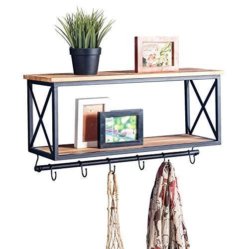CARO-Möbel Wandgarderobe Armando Garderobenleiste Hängegarderobe schwarz lackiert im Industrial Design