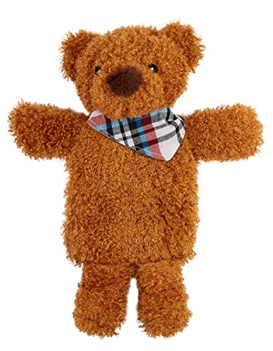 CityComfort Hot Water Bottles, Fluffy Teddy Bear Hot Water Bottle with Cover for Kids Or Adults, Soft Cover with 1L Natural Rubber Hot Water Bag for Long Lasting Heat