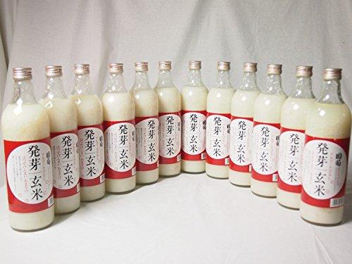 篠崎 国菊甘酒 発芽玄米 あまざけノンアルコール 985g×12本(福岡県) [並行輸入品]