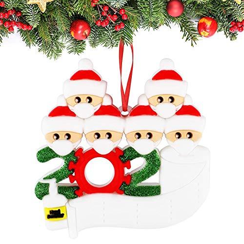 Sunshine smile Adorno de Familia Sobrevivido, 2020 Adorno navideño,Adornos para árboles de Navidad, 2020 Adorno navideño, Christmas Ornament 2020,Decoraciones navideñas Familia sobrevivida (6)