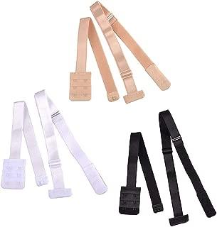 RETON Low Back Bra Straps Converter Women Girls Dresses Backless Adjustable Bra Extenders Hook (Black/Beige/White)