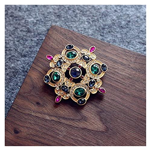 xczbb Broche Broche de cetro de Flores de Pin Plateado de Color Oro for Mujeres Regalos (Metal Color : D, Size : 1)
