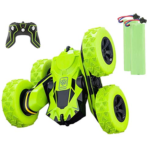 Apsung RC Stunt Car,4WD Rechargeable 2.4Ghz Remote Control Car, Double Sided Rotating Tumbling 360°Flips Off-Road High-Speed Truck, Toy Cars for Kids, Boys, Girls Birthday Gift