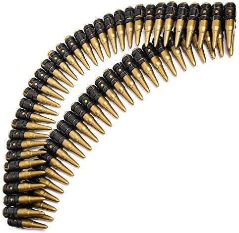 Skeleteen Fake Bullet Army Belt Plastic Bandolier Military Toy Ammo Costume Accessories Props product image