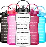 BuildLife Half Gallon Water Bottle No Straw - 64 OZ BPA...