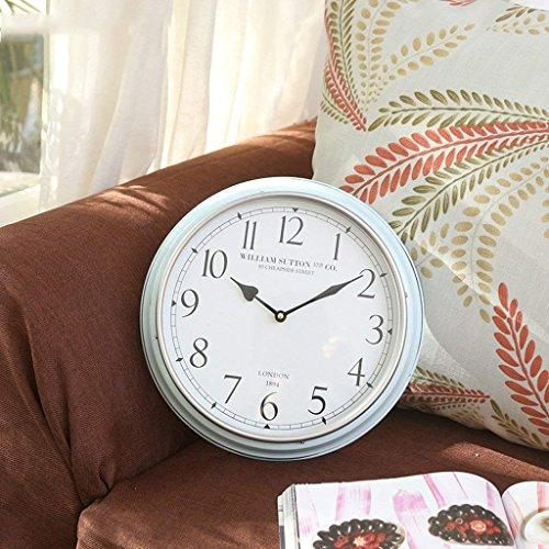 DSJ Amerikaanse Moderne Woonkamer Metalen Wandklok Huis Villa Model Mute Decoratieve Horloge