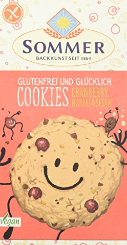 Sommer Cookies Cranberry, Mandel + Sesam, 6er Pack (6 x 125 g)