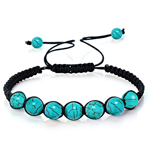 HARRYSTORE 7 Chakras Pulsera Ajustables Yoga Jade ágata Kundalini Mujer terapias magneticas, curación energética (A)