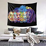MAJJAKJH Decorative Tapestry Art Wall Hanging Bedroom Living Room Dormitory TV Background Wall Blanket 60 X 51 inches