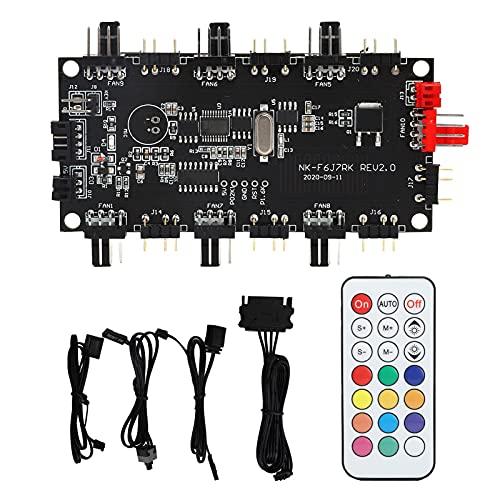 Divisor ARGB con control remoto inalámbrico, controlador de luz LED de 4/3 pines, concentrador de ventilador de fuente de alimentación de PCB, modo AURA SYNC y modo de control remoto inalámbrico