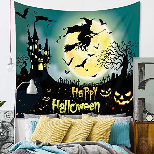 XQF Multifunzione Wall Hanging Tapestry, Decorazione di Halloween, Zucca Lanterna Albero sulla Notte di Luna, Layout, Sala da Pranzo Decorazioni 28 del Modello 5 Superficie ZD-71 * 90.5