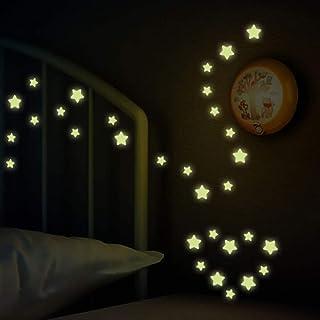 76Pcs Star Wall Decals Glow in The Dark Stars Wall Stickers