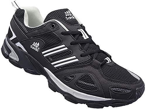 Herren Sportschuhe Sneaker Turnschuhe Schuhe Übergröße gr.47-49 Art.-Nr.1326 schwarz-weiß (48)