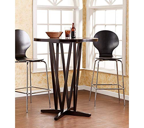 Southern Enterprises Devon Bar Table in Dark Espresso Finish