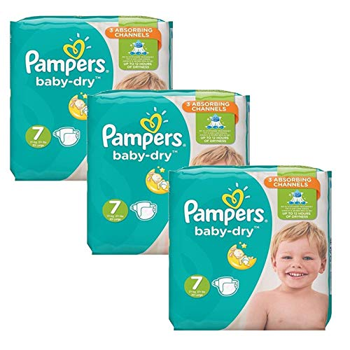 Couches Pampers - Taille 7 baby dry - 120 couches bébé