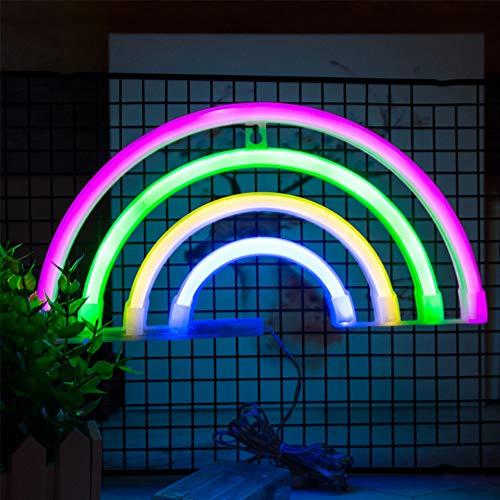 ENUOLI arco iris de luz de neón del arco iris de neón muestra de la luz luces de la noche decoración de la pared decoración del hogar del LED para la habitación de los niños dormitorio fiesta de la b
