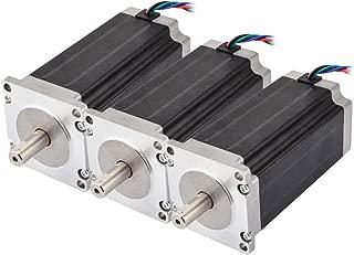 STEPPERONLINE 3PCS 3Nm Nema 23 Stepper Motor 4.2A 4-wires 10mm Shaft DIY CNC Mill Lathe Router