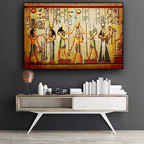 DERFV Retrato Indio Lienzo Pintura escandinavo Cartel Mural