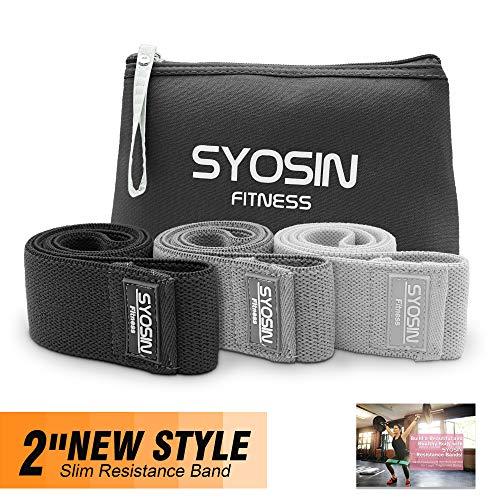 SYOSIN Bandas Elásticas Fitness, Set de 3 Bandas de Resiste