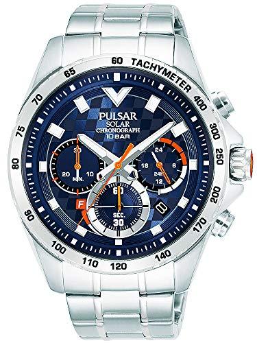 【セット商品】[パルサー] セイコー SEIKO パルサー PULSAR ソーラークロノグラフ腕時計 PZ5101X1 &マイクロファイバークロス 13×13cm付き[並行輸入品]