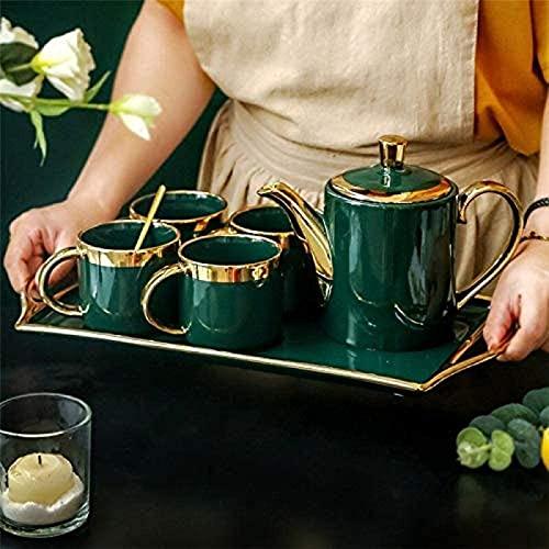 Nordic Light Luxe Emerald Koude Waterkoker, Huishoudelijke Eenvoudige Keramische Phnom Penh Theekop, Kung Fu Afslankthee Set en Papieren Doos Bloem Thee