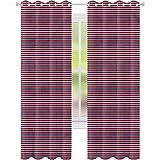 Cortinas opacas para dormitorio, diseño de rayas horizontales...