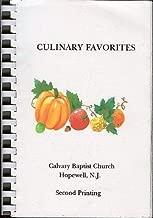 Culinary Favorites: Calvary Baptist Church, Hopewell, New Jersey