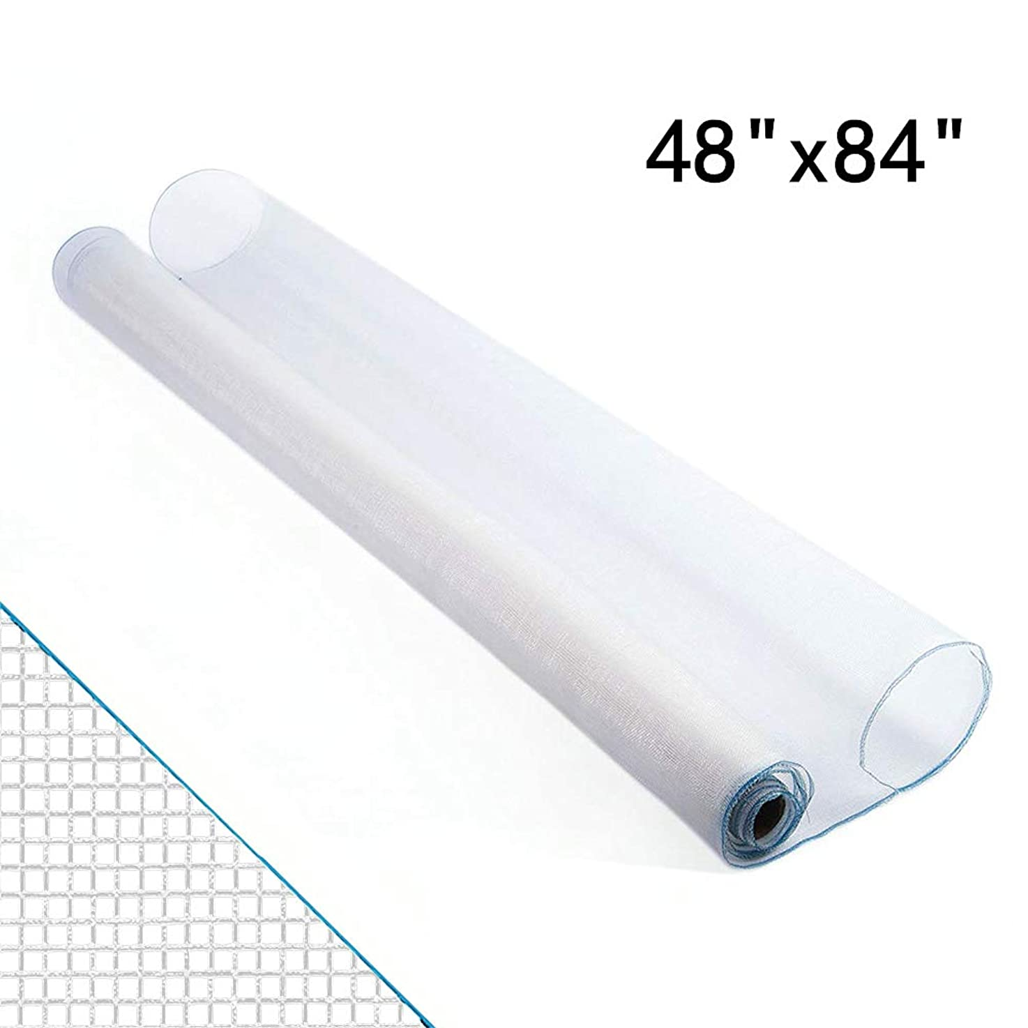 Shatex Roll Window Screen Mesh, DIY Nylon Screen Replacement Mesh Fabric, Anti-Mosquito/Insect Barrier, 48