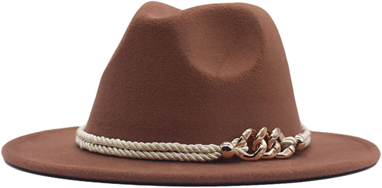 Some reservation Womens Winter Spring Vintage Leaf Felt Fedora Wide Brim Hat Fas Max 69% OFF