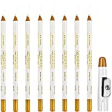 8 Pieces Barber Pencil with Built-in...