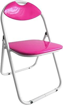 Silla plegable GT VESTIAMO CASA respaldo y asiento tapizado brillante - Fucsia