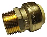 """1 PIECE XFITTING 3/4"""" PUSH FIT X 1/2"""" MALE NPT/MNPT ADAPTER, CERTIFIED TO NSF ANSI61 - LEAD FREE BRASS, PLUMBING FITTING FOR COPPER, PEX, CPVC, REPLACEMENT FOR SHARKBITE -  HOMEWORK88"""