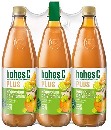 hohes C Plus Magnesium & B-Vitamine - 100% Saft, 6er Pack (6 x 1 l)