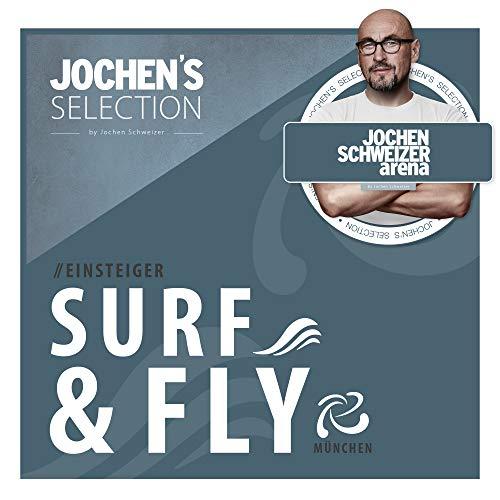 Jochen Schweizer Arena Surf & Fly I Bodyflying + Indoor-Surfen I Erlebnis-Box Indoor Skydiving & Surfen I Windkanal Fliegen + Wellenreiten I Erlebnis-Gutschein Fliegen & Surfen I Geschenk-Box