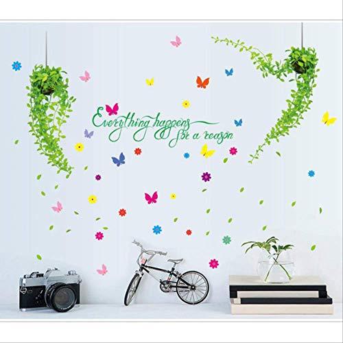 Muurstickers Boom Rotan Horns Kamerdecoratie Slaapkamer Warm Romantisch Nachtkastje Behang Stickers