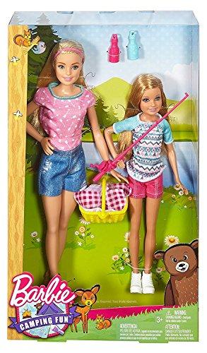 Barbie Sisters - Juego de 2 muñecas para acampada y estacia, diseño de Barbie Sisters