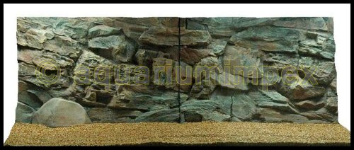 3D Aquarienrückwand 150x60 Rock