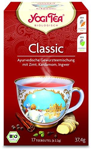Yogi Tee 10x Classic Bio YOGI TEA® I leckere ayurvedische Gewürz-Tee-Mischung mit Kardamom Ingwer uvm. I großes Tee-Set mit 10x 17 Tee-Beutel - echte Bio-Qualität I Yogi-Tee Klassik 10 Päckchen