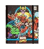 Carpeta 2 anillas troquelada premium Marvel comics Avengers