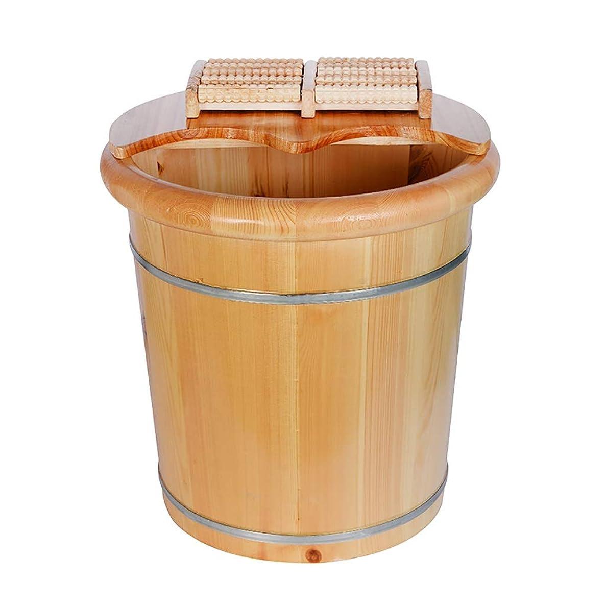 突き出す繊細修士号木製フットバスハイマッサージフットバスバレルフットマッサージ用ペディキュアボウルスパマッサージフットバスバレルフットウォッシングバレル (Color : A)